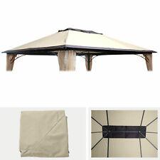 Ersatzbezug 365x265cm für Dach Pergola Pavillon HWC-C44 3x4m, creme