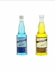 2 Bottles-  Lustray Spice After Shave 14 Oz, Classic Blend & Blue Spice- Clubman