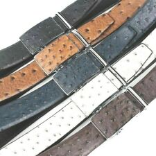 LUXURY MENS DESIGNER BELTS OSTRICH EFFECT GENUINE REAL LEATHER AUTOMATIC BELT UK