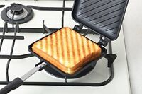 Yoshikawa Hot Sand Maker Crispy Gas fire SJ2408 Sandwich toaster Japan F/S