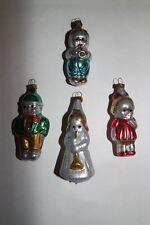 4.-Set Kinder+Engelskind Silber/Bunt, nostalgischer Christbaumschmuck, Lauscha