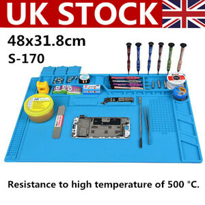 UK Anti Static Magnetic Heat Insulation Silicone Pad Desk Mat For Solder Repair