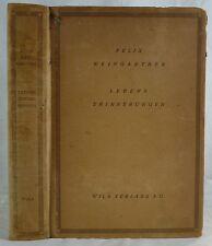 Felix Weingartner - Lebenserinnerungen. 1923