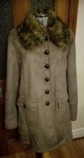 Centigrade Faux Shearling Coat With Faux Fur Collar Size XL NEW
