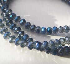 100 Stück navy blau Facettierte Glasperlen 4mm Kügelchen Kristall |DIY Schmuck