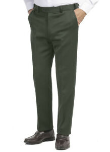 Mens Gents Classic Cavalry Twill Smart Casual Formal Trousers Pants in Olive
