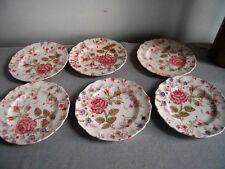 Rose Chintz Johnson Bros. Dessert Plates