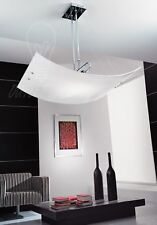 design moderno lampadario bianco finitura lucida stanza studio cucina salone