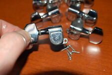 Used Schaller West Germany Chrome Guitar Tuners 3x3 Luthier Parts