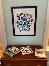 """Dollhouse Miniature """"The Butterfly Collection� - 4 Books and Butterfly Print"""