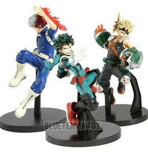 3 Figurines My Hero Academia shoto todoroki midoria et bakugo boite amazing hero