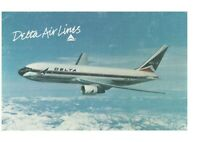 Delta Airlines Boeing 767 w/ Logo & Name Postcard Snow Capped Mountains Rare