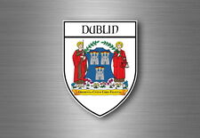 Sticker decal souvenir car coat of arms shield city flag dublin ireland