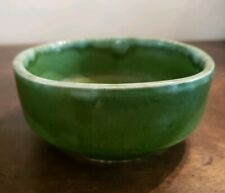 Beautiful Vintage Green Glaze Pottery Bowl by Judy Of California