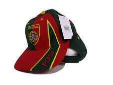 Portugal Portuguese Red and Green Baseball Hat Cap 3D embroidered