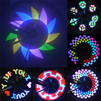 Bike Bicycle Cycling Wheel Safety Spoke Tire Wire Tyre LED Lights Lamp Night SPD
