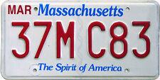 Massachusetts SPIRIT OF AMERICA License Plate BOSTON