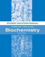 Biochemistry by Judith G. Voet and Donald Voet (2011, Paperback, Student Manual)