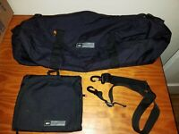 REI Cordura Black Duffel Bag With Strap And Insert Bag