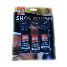 Shoe Polish With Buffers - Pack Of 3 45ml Bottles - 2 Black, 1 Brown