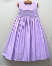 Worn Once Strasburg Boutique Sz 5Y 5 6 Purple Smocked Classic Cotton Party Dress