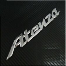 Car Chrome Rear Trunk Badge Emblem 'Atenza' for Mazda6 Mazdaspeed6 Silver 3D
