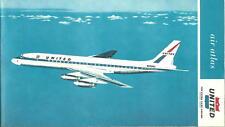 1960's United Air Lines Brochure, Air Atlas Route Maps