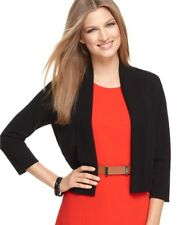 Calvin Klein 3/4 Sleeve Open Front Cardigan Sweater Black XL NWT