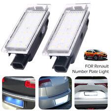 2*18pcs LED Eclairage plaque immatriculation pour Renault Clio Laguna Megane C3