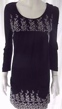 JEANSWEST Womens Long sleeve Black Dress - size S