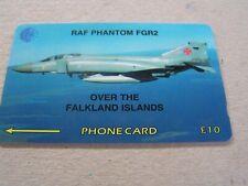FALKLAND ISLANDS  used magnetic GPT card,59CFKA  RAF Phantom FGR2 plane