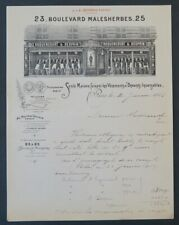 Facture 1913 VETEMENT DESPRIN ROQUENCOURT PARIS belle entête illustrée 26