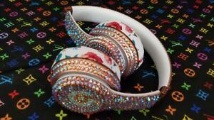 Custom Beats by Dre Solo 2 Wireless Headphones with Genuine Swarovski RoseGold