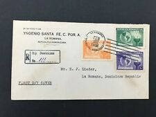 Postal History Dominican Republic Registered 1938 FDC