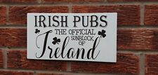 Irish pubs official sunblock fun wooden Plaque Sign Birthday Christmas Gift Idea