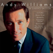 ANDY WILLIAMS 28 CLASSICS NEW 2CD EARLY HITS AND MORE EASY LISTENING FAVOURITES
