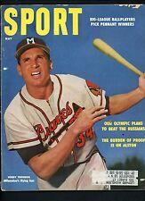 Bobby Thomson Braves Mickey Mantle Yankees SPORT Magazine May 1955