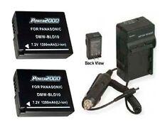 TWO 2 Batteries + Charger for Panasonic DMC-GF2C DMC-GF2K DMC-GF2 DMC-G3 DMC-G3K