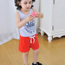 Summer Toddler Kid Unisex Baby Boy Girl Cotton Casual Shorts Fashion Sport Pants