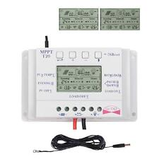 20A Solar Charge Controller 12V 24V Regulator MPPT Timer+ Extension Cable RP