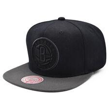 Brooklyn Nets NBA POP BLOCK Snapback Mitchell & Ness NBA Hat - Black/Graphite