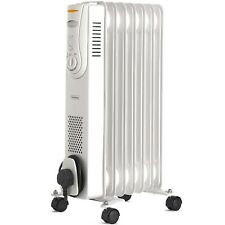 VonHaus Oil Filled Radiator 7 Fin 1500W Portable Electric Heater with 3 Settings