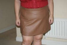 Faux Leather Short/Mini Casual Plus Size Skirts for Women