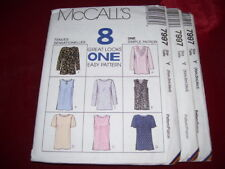 McCALL/'S #3914 LADIES 4 STYLE FRONT /& BACK PLEATED BLOUSE PATTERN 10-14 FF