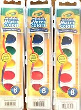 CRAYOLA WASHABLE WATERCOLORS 8 COLORS TRIO