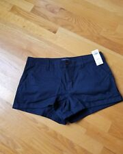 NWT Abercrombie & Fitch  low Rise Chino Shorts size 10 ( 30) Navy