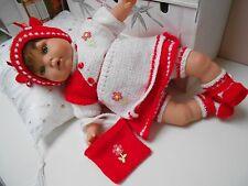 ens robe inédit 7pces fait main bébé poupée antonio juan,reborn 40/45cm
