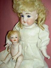 JD Kestner #154 DEP antique bisque shoulderhead doll square teeth,jt'd.kid body