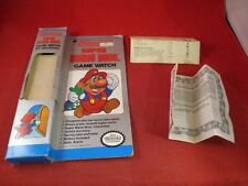 Nintendo Super Mario Bros. Game Watch By Nelsonic EMPTY Box & Manual ONLY
