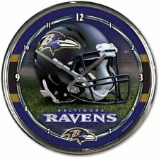 NFL Ravens de Baltimore Horloge Murale Mur Horloge Chrome Montre Football